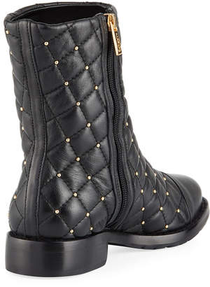 Carrano Liv Studded Leather Ankle Boots