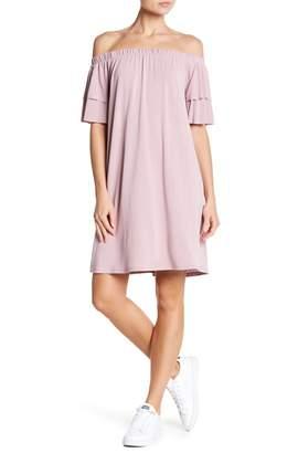 NSR Off-the-Shoulder Solid Dress