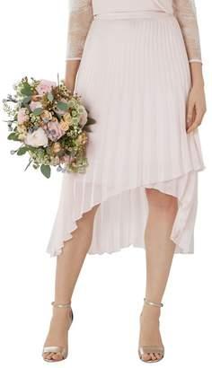 Coast Blush Pink 'Amy' Pleated Midi Bridesmaid Skirt