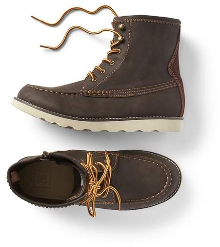 Faux leather hiker boot
