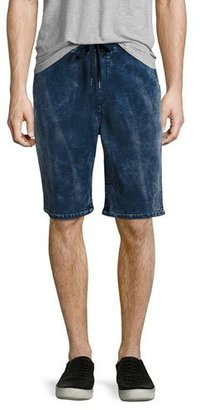 True Religion Decayed Terry Sweat Shorts, Blue $149 thestylecure.com