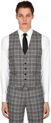 Tagliatore Wool Prince Of Wales Vest