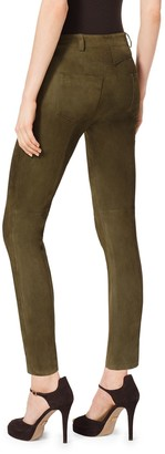 Michael Kors Stretch-Suede Leggings