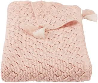 Mud Pie Pointelle Knit Blanket