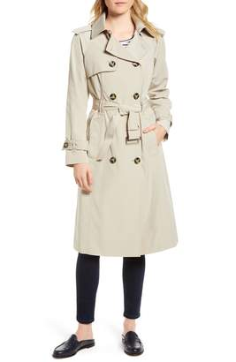 London Fog Long Double Breasted Trench Coat