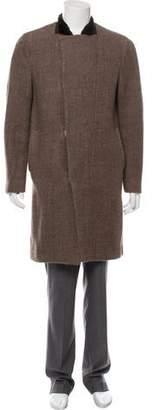3.1 Phillip Lim Nutria-Trimmed Overcoat