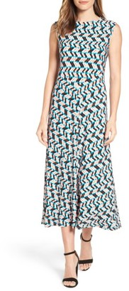 Women's Chaus Shadow Glass A-Line Maxi Dress $99 thestylecure.com