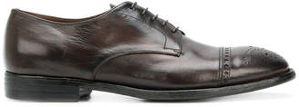 Silvano Sassetti punch hole detail Derby shoes