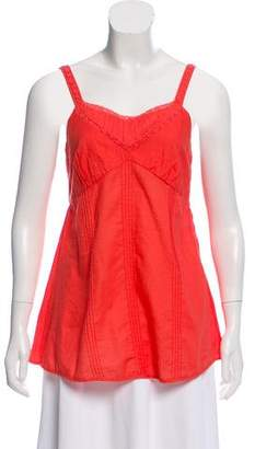 Marc by Marc Jacobs Pleated Lace-Trimmed Top
