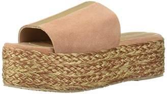 Kaanas Women's SITGES Espadrille Woven Straw Platform Wedge Opentoe Slide Sandal Shoe Heeled