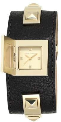 Vince Camuto Women's Analog Quartz Studded Cuff Bracelet Watch, 26.4mm