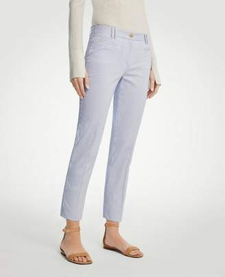 Ann Taylor The Crop Pant in Railroad Stripe