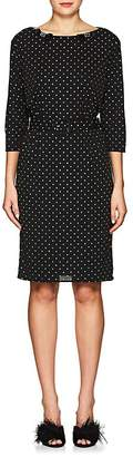 Marc Jacobs Women's Bow-Appliquéd Glitter-Dot Crepe Dress
