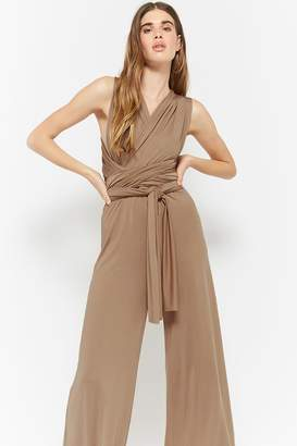 Forever 21 Self-Tie Wrap Jumpsuit