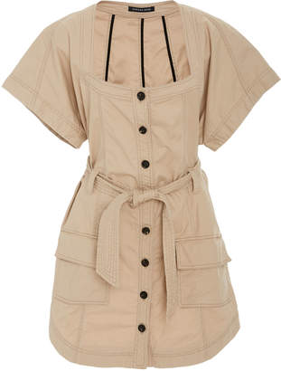 Marissa Webb Tyler Utility Canvas Cotton-Blend Mini Dress