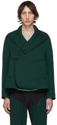 Kiko Kostadinov Green Vein Padded Blazer Jacket