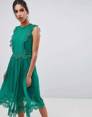 Ted Baker Porrla Frill Lace Midi Dress