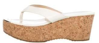 Jimmy Choo Pathos Platform Thong Sandals gold Pathos Platform Thong Sandals