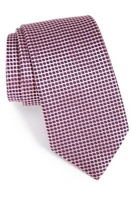 Men's Ermenegildo Zegna Check Silk Tie $195 thestylecure.com
