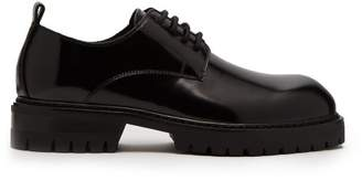Ann Demeulemeester Polished Leather Derby Shoes - Womens - Black