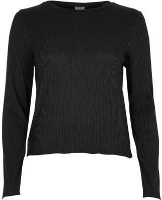 River Island Womens Black ribbed lace-up back top