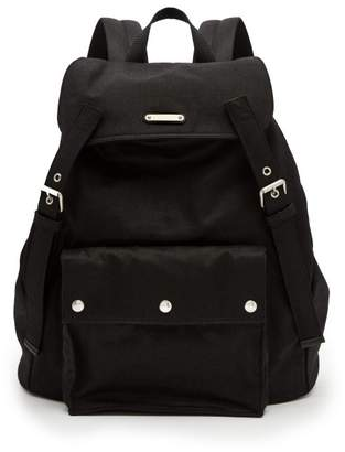 Saint Laurent Canvas And Leather Backpack - Mens - Black
