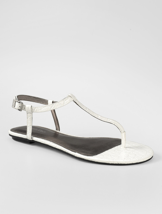 Stellah croc patent thong sandal
