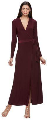 Women's Jennifer Lopez Faux-Wrap Maxi Dress $64 thestylecure.com
