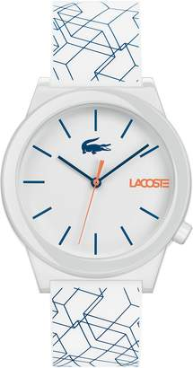 Lacoste Men's Motion Watch with White Silicone Strap