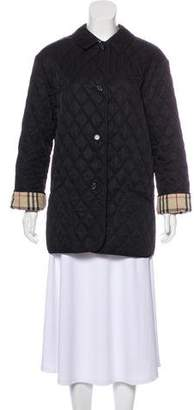 Burberry Quilted Long Sleeve Coat