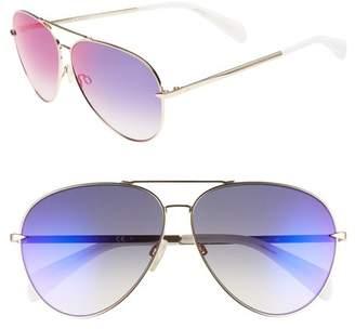 Rag & Bone 63mm Aviator Sunglasses