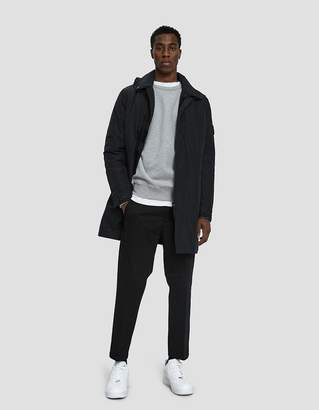 Stone Island Micro Reps Trench Coat in Carbon