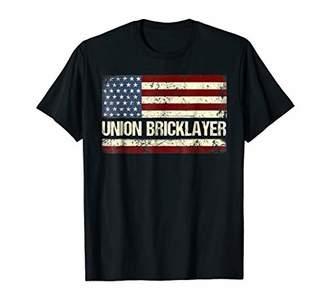 Union Bricklayer Shirt American Flag Bricklayer T Shirt