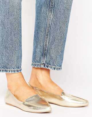 Call it Spring Call It Spring Cadenasen Metallic Point Flat Shoes $48 thestylecure.com