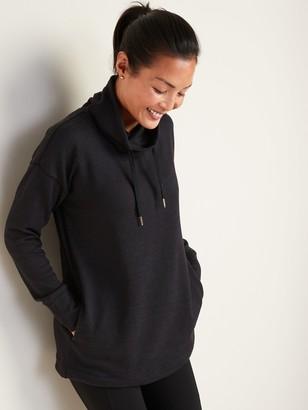 Old Navy Sweater-Knit Mock-Neck Tunic Sweatshirt for Women