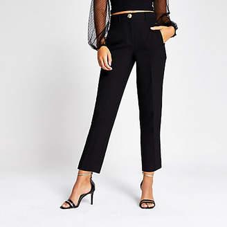 River Island Black cigarette trousers