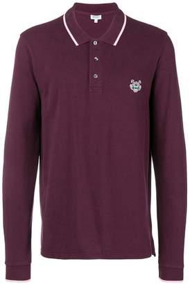 Kenzo longsleeved Tiger polo shirt