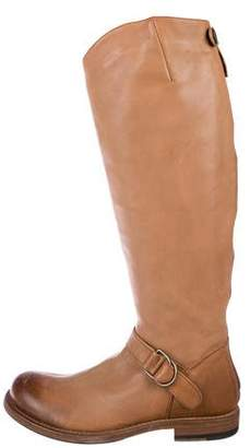 Brunello Cucinelli Leather Knee-High Boots