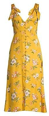 e54e7f4e0 Rebecca Taylor Women's Lita Floral Tie Strap Midi Dress