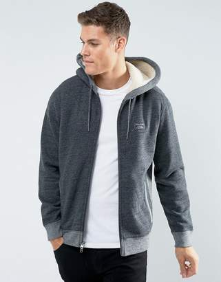 Abercrombie & Fitch Zipfront Hoodie Fleece Lined in Heather Gray