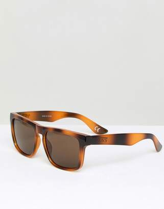 Vans Squared Off Sunglasses In Tortiose Shell