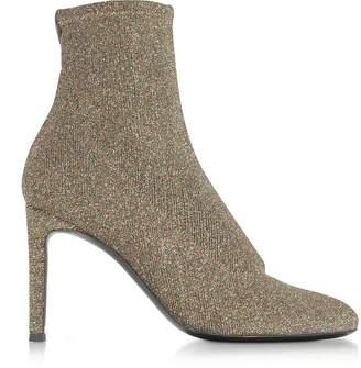 Giuseppe Zanotti Glitter Stretch Fabric Heel Booties