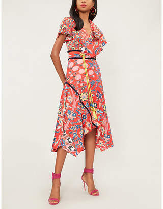 Peter Pilotto Floral-print asymmetric silk-blend midi dress