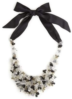 Josie Natori Beaded Bib Necklace - Black