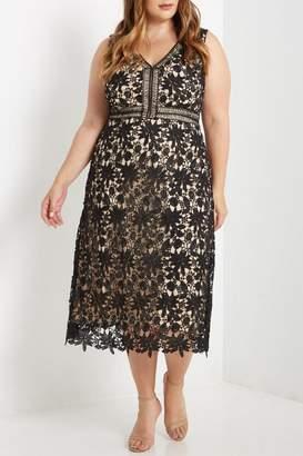 Soprano Lace Overlay Dress