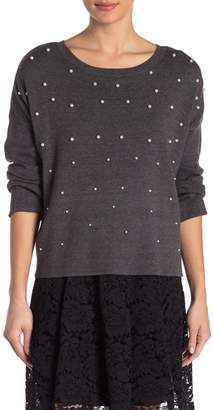 Romeo & Juliet Couture Embroidered Long Sleeve Sweater