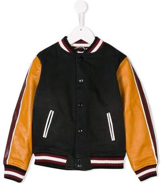 Little Marc Jacobs contrast sleeve bomber jacket