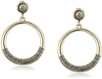 Sam Edelman Etched Gypsy Hoop Earrings