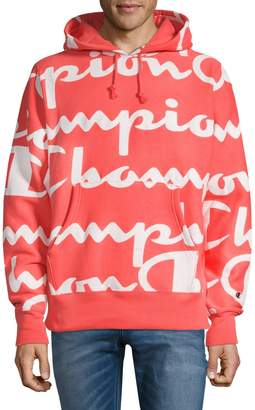 Champion Reverse Weave Printed Cotton Blend Hoodie
