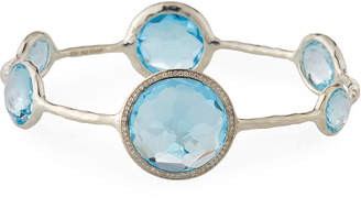 Ippolita Stella Sterling Silver Bangle in Blue Topaz with Diamonds